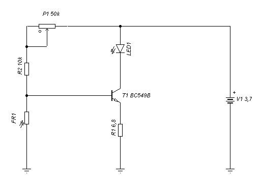Schema circuito alimentazione led con funzione crepuscolare
